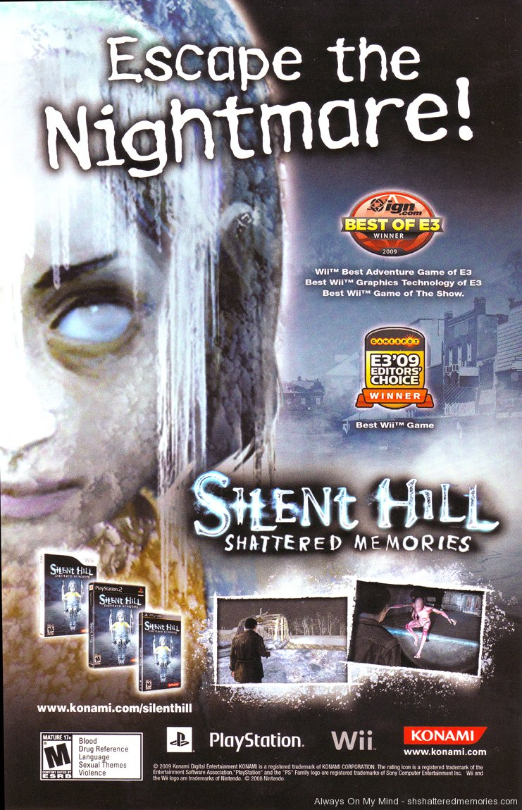 Silent Hill Shattered Memories Silent Hill Graphics Game Konami