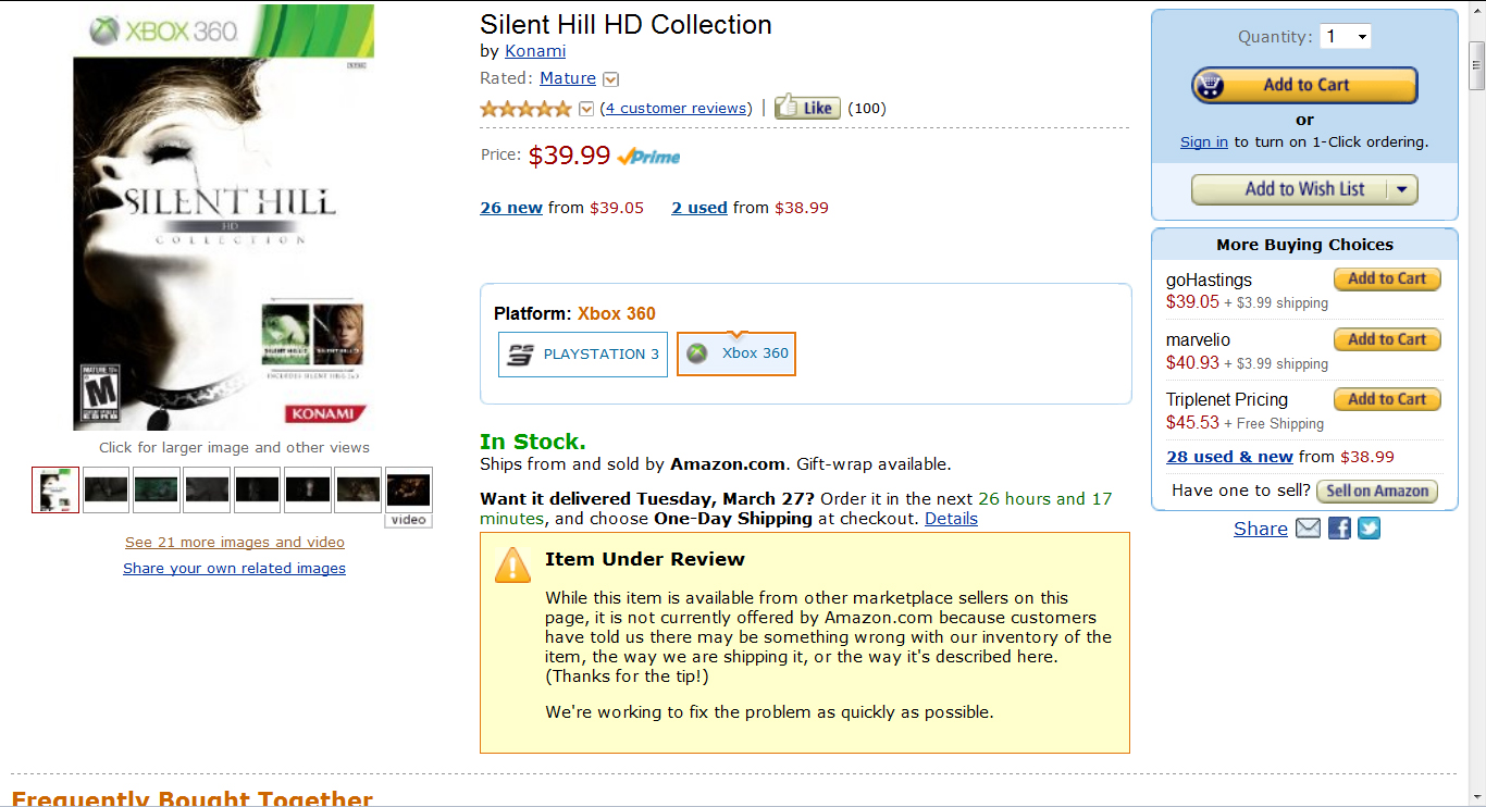 Silent Hill Historical Society » Amazon Haults HD Collection